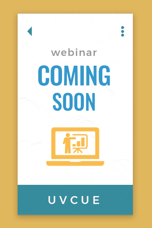 UVCUE webinar schedule coming soon